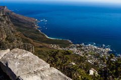 The fair cape. A view of camps bay from table mountain Royalty Free Stock Images