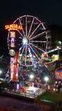 Fair. Carnival fun beautiful lights Royalty Free Stock Image