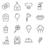 Fair or Carnival Icons Thin Line Vector Illustration Set. This image is a vector illustration and can be scaled to any size without loss of resolution Stock Photography