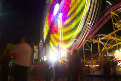 Fair carnival wheel in motion Royalty Free Stock Photos