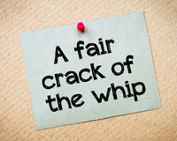 A fair crack of the whip Royalty Free Stock Photos