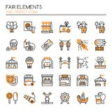 Fair Elements. Thin Line and Pixel Perfect Icons stock illustration