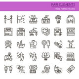 Fair Elements. Thin Line and Pixel Perfect Icons royalty free illustration