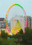 Fair Ferris wheel adorned with lights Royalty Free Stock Photography