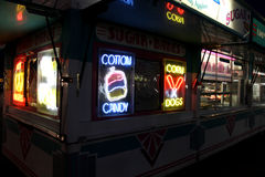 Fair Food. Image of a food stand at the local county fair Royalty Free Stock Photos