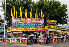Fair Food. Food court at the midway of the Shasta County Fair in Anderson, California Stock Images
