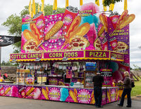 Fair Food. Food court at the midway of the Shasta County Fair in Anderson, California Royalty Free Stock Photography