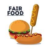 Fair food snack carnival icon vector illustration