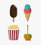 Fair food snack carnival icon royalty free illustration