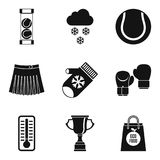 Fair game icons set, simple style. Fair game icons set. Simple set of 9 fair game vector icons for web isolated on white background Royalty Free Stock Photos