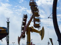 Fair Goers On Exciting Ride Stock Images
