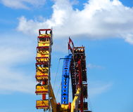 Fair Goers On Exciting Ride Royalty Free Stock Image
