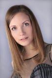 Fair-haired girl. Beautiful fair-haired girl portrait isolated stock image