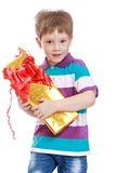 Fair-haired little boy Stock Images