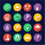 Fair Icons Flat Design Circle Royalty Free Stock Images