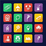 Fair Icons Flat Design Stock Photography