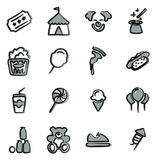 Fair Icons Freehand 2 Color. This image is a illustration and can be scaled to any size without loss of resolution Stock Photo