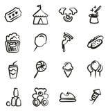 Fair Icons Freehand Stock Photo