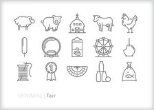 Free Fair Icons Of Animals, Crafts And Objects At A State Or County Fair Stock Photos - 214639783