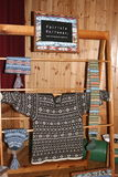 Traditional knitwear at craft fair Stock Photo