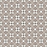 Fair Isle style white beige brown seamless pattern. Fair Isle style beige white brown vector seamless pattern with rhombus royalty free illustration