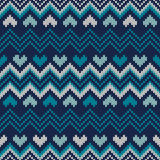Fair Isle Style Knitted Sweater Design. Seamless Knitting Patter Royalty Free Stock Photos
