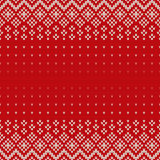 Fair Isle Style Seamless Knitted Pattern. Christmas Background w Royalty Free Stock Images