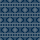 Fair Isle Style Seamless Knitted Pattern. Winter Holiday Sweater Royalty Free Stock Photo