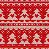 Fair Isle Sweater Design. Seamless Knitted Pattern Stock Images
