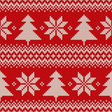 Fair Isle Sweater Design. Seamless Knitted Pattern Royalty Free Stock Photography