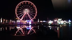 Fair in Lucerne, beautiful Night scene Stock Photos