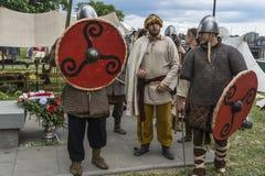 Fair next to the Wawel Castle. Fair of Saint John in Krakow , Poland .Every year, on the Vistula River next to the Wawel Castle is fair on the occasion of the Stock Photos