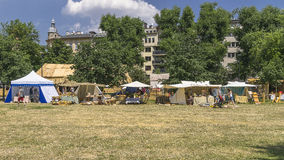 Fair next to the Wawel Castle Stock Photos
