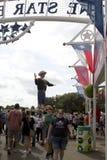 Fair Park was crowd at State Fair Texas. Fair Park of city Dallas USA 2017 Royalty Free Stock Photos