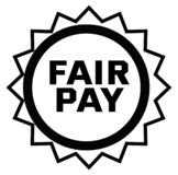 FAIR PAY stamp on white royalty free illustration