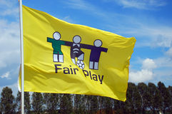 Fair play flag Stock Photo