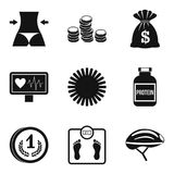 Fair play icons set, simple style. Fair play icons set. Simple set of 9 fair play vector icons for web isolated on white background Stock Images