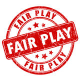 Fair play rubber stamp. Fair play rubber vector stamp Stock Image