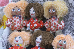 Fair rag doll symbolizes happiness, prosperity and peace in home Stock Photos
