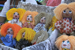 Fair rag doll symbolizes happiness, prosperity and peace in home Stock Images