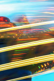 Abstract of blurred lines. Abstract background of blurred colored lines created by moving lights on rides in a fairground Royalty Free Stock Photos