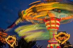 A fair ride in motion, taken with a long exposure Royalty Free Stock Images