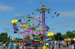 Fair rides. Lane County Fair rides, 2012 stock images