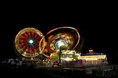 Fair Rides At Night Royalty Free Stock Photography