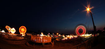 Fair rides at night Stock Photography