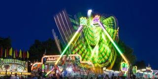 Fair Rides at Night Royalty Free Stock Photos