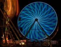 Fair Rides at Night Stock Photography