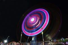 Fair rides at night Stock Image