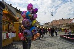 Fair in Sibiu Romania Royalty Free Stock Photo