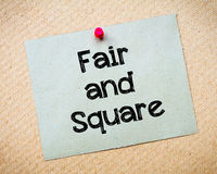 Fair and Square Stock Photos